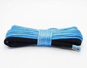 TMP Synthetik Nylon Seilwinden Seil blau 15 Meter x 5 mm  Warn Superwinch Moose