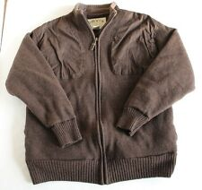 Orvis Outdoorsman Brown Hunting Sporting Windproof Foul Weather Sweater Men's LG