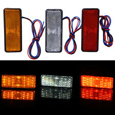 1Pc Amber 24 SMD LED Car Motorcycle Square Reflector Tail Turn Signal Light Lamp