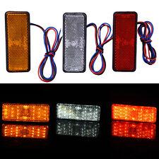 1Pc 24 SMD LED Motorcycle Car Square Reflector Tail Brake Turn Signal Light Lamp