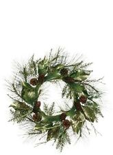 Cône de pin & FEUILLE D'OR 61cm Guirlande de Noël