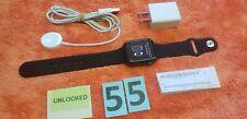 Apple Watch Series 6 44mm Aluminum Black GPS + Cellular Black Sport Band #55
