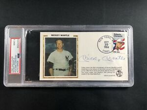 Mickey Mantle Autograph HOF Yankees First Day Cover Signed PSA/DNA 9 MINT