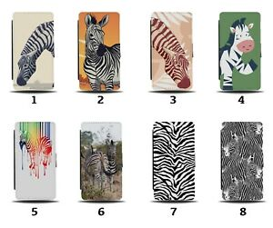 Zebra Flip Wallet Case Animal Zebras Print Skin Colourful Cartoon African 8098c