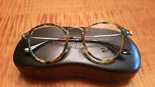 New Authentic Ray Ban 2447-V Round 5493 Tortoise And Green 47-21-140 Italy