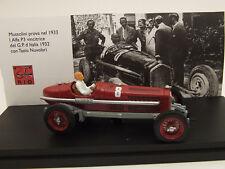 Alfa Romeo P3 GP Italia 1932 B.Mussolini Test 1/43 4211/P Rio Made in Italy