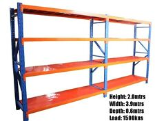 Shelving workshop garage warehouse racking 3.9m X 2.0m X 0.6m Pick up in W.A
