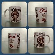 personalised cup mug i do bad things by order of the peaky blinders tommy arthur