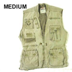 ROTHCO Mens Sz MEDIUM Outback Outdoors Hunting Fishing Vest  Zip Up Multi Pocket