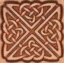 3D SQUARE CELTIC KNOT LEATHER STAMP 8538-00 Tandy Stamping Tool Stamps Tools
