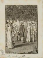 CHODOWIECKI (1726-1801). Hermann mit den Kindern des kranken Bergmanns 1