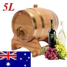 5L Barrel Oak Wood Keg For Wine Spirits Whisky Beer Liquor French America Timber