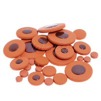 28pcs Deluxe Soprano Saxophone Woodwind Leather Pads for Yamaha Size Replacement