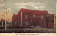 Postcard M. and P. Interurban Railroad Trolley Station in Albany, Indiana~123659