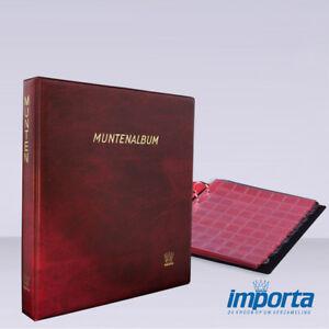 Importa muntalbum populair rood met 5 verschillende muntbladen rode schutbladen