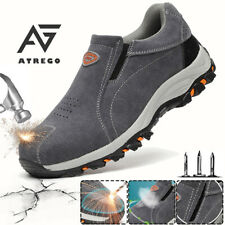 USA Mens Indestructible Safety Shoes Steel Toe Work Boots Suede Hiking Sneakers