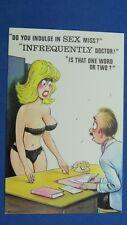 Risque Bamforth Comic Postcard 1970s Large Boobs Black Bra Kickers INNUENDO Sex