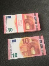 Movie money / prop money, reproduction de 100 billets de 10 euros