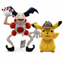 2X Detective Pikachu Mr.Mime Barrier Pokemon Plush Toy Stuffed Animal Figure