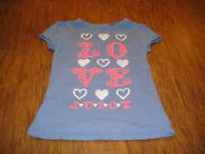 Juicy Couture Girls 8 Blue Love Shirt