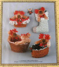 Anything but Ordinary teddy bear gift basket pattern Vtg 80s