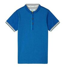 1fae096d7400b8 Ted Baker Boys Polo T Shirt Blue DESIGNER Stretchy Top Size 7-8 Years