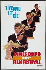 LIVE AND LET DIE R76 JAMES BOND one sheet movie poster 27x41 007 ROBERT McGINNIS