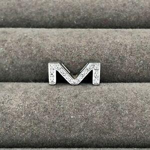 Canturi 18ct White Gold Alphabet Collection 'M' Diamond Pendant