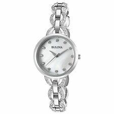 Bulova 96L203 Women's Mother of Pearl Silver-Tone Quartz Watch