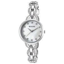 Bulova 96L203 Women's Mother of Pearl Silver-Tone Quartz Watch