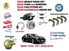 para BMW 730d F01 2008-2015 DISCO FRENO TRASERO + pastillas + Kit de montaje +