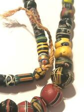 Vintage African Trade Beads Italy King Bicone Venetian Millefiori 1A