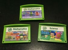 LEAPFROG LEAP FROG LEAP PAD LOT OF 3 PJ MASKS TEAM UMIZOOMI BUBBLE GUPPIES GAMES