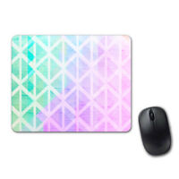 Pink Green Geometric Pretty Mouse Pad Computer Tablet PC Laptop Mice Mat
