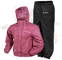 XL XLARGE Womens Frogg Frog Toggs Pro Action Rain Jacket Pants Suit  Cherry XL