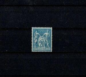 "FRANCE STAMP YVERT 73 SCOTT # 71 "" SAGE 20c BLUE OLD REPRINT "" MNH VF W173"