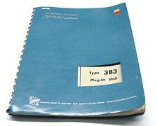 Tektronix 3B3 Time Base, Instruction Manual, Bedienung & Service, 560er Scopes