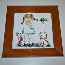 Piastrella Maiolica Artistica su ceramica di Sassuolo  Con cornice Quadro   3383