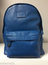 Coach Campus Pebble Leather Denim Blue Backpack F71622