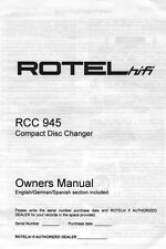 Rotel RCC-945 CD Changer Owners Manual