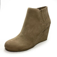 Womens Wedges Vintage Chelsea Shoes Ladies high heel Winter Ankle Boots Size