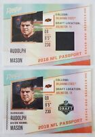 Mason RUDOLPH 🔥 STEELERS 🏈 2018 Prestige RC ROOKIE CARD LOT PLAYER-WORN JERSEY