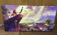"""Thomas Kinkade Disney The Lion King 16"""" X 31"""" Canvas"""