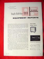 "Bozak B-302A speaker, Fisher 202-R AM/FM tuner test reviews ""High Fidelity"" 5/61"