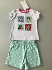 Mädchen Baby Set Outft Minnie Mouse Daisy Mickey Mouse Donald Disney 100% Baumwo