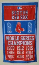 Boston Red Sox 9-Time World Series Champions banner flag 3X5FT Man Cave