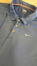 NIKE FIT DRY Men's Short Sleeve Dri Polo Shirt Size Large L Blue Performance EUC