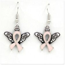 Breast Cancer Angel wings earrings  (charity fundraiser)💕
