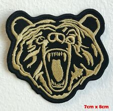 Grizzly brown bear Embroidered Iron Sew on Patch #1499