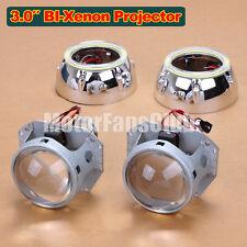 "3.0"" Latest LED Angel Eye HID BI-Xenon Projector Lens Headlight Kit Halo 124Y"